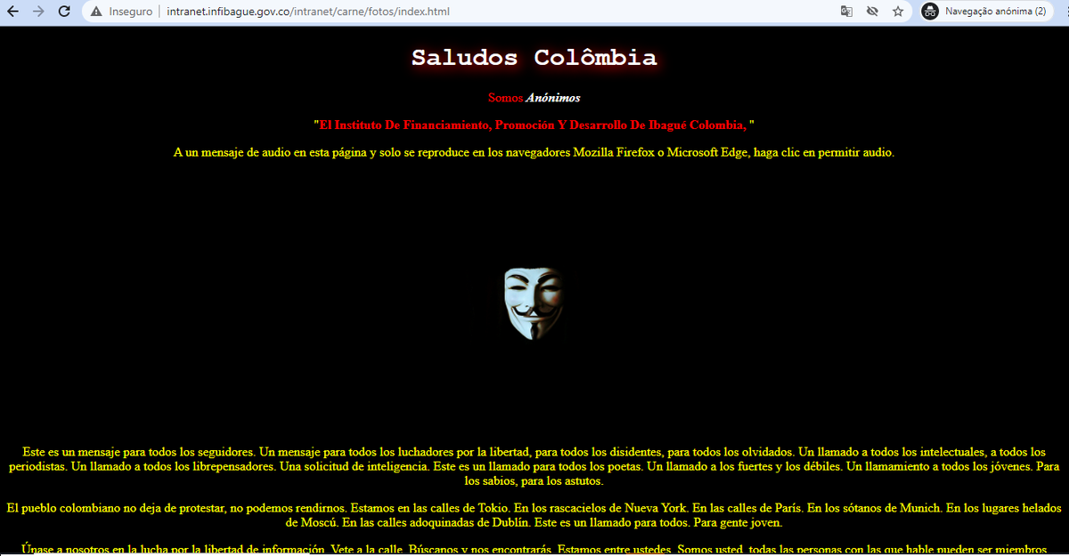 Deface - OpColombia